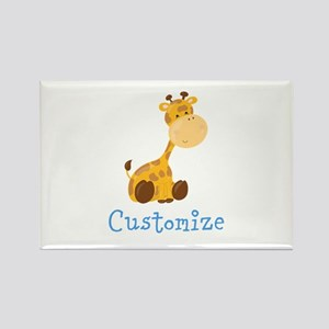 Custom Baby Giraffe Rectangle Magnet